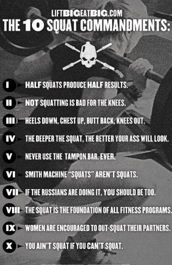 Squat commandments